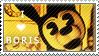 Boris The Wolf Stamp Fan (F2U) by InkyGirly