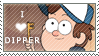 Dipper Pines Stamp F2U by InkyGirly