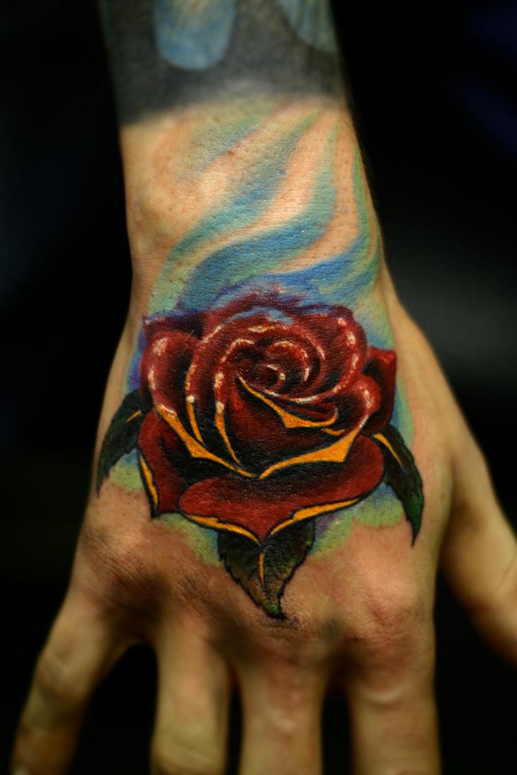 Тату на руку мужские роза