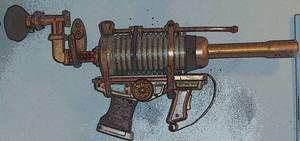 Steampunk Plasma gun poster