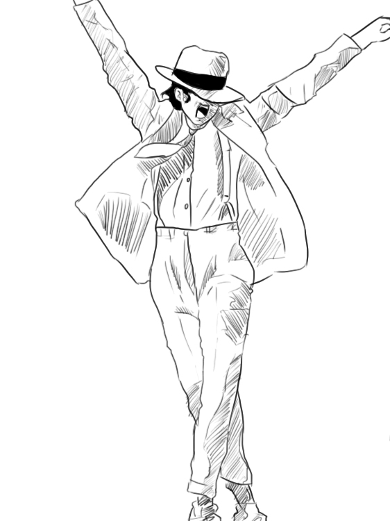 michael jackson sketch smooth - photo #5