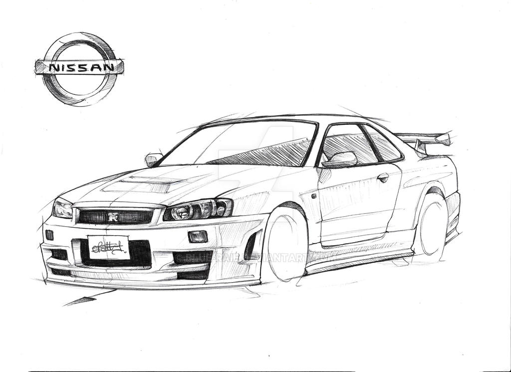 nissan r33 gtr coloring pages - photo#13