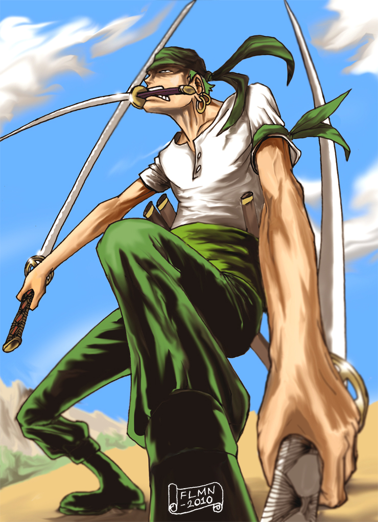 Roronoa zoro one piece by flmn on deviantart - One piece logo zoro ...