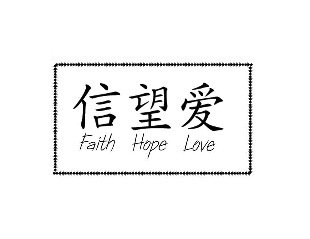 Faith Hope Love Symbols