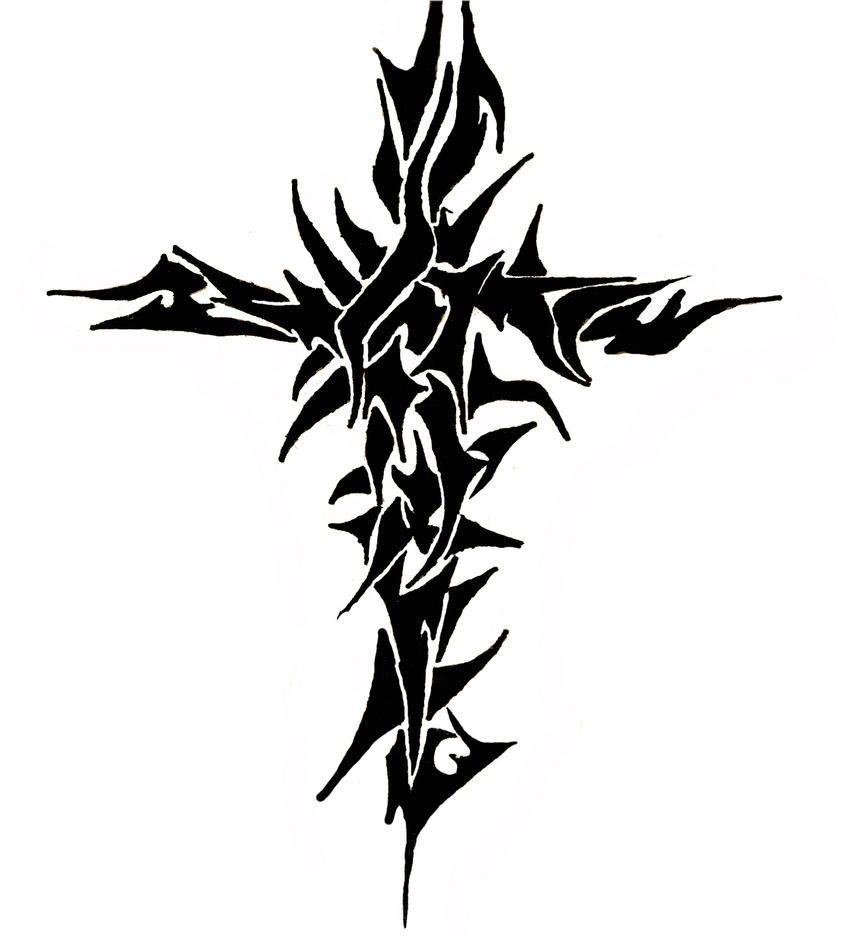 Pictures Of Tribal Cross Tattoos: Tribal Cross By Discoinfernoman987 On DeviantArt
