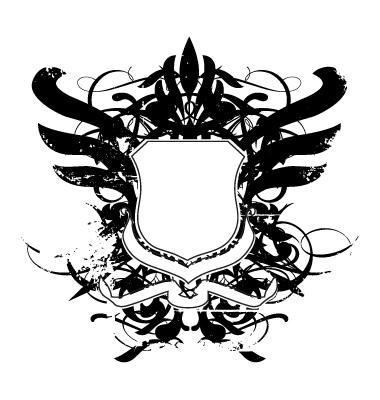 Grunge Heraldy shield by vectorrobot
