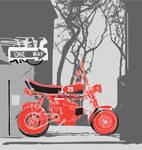 Retro motor bike