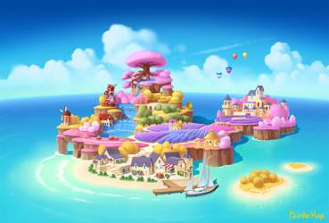 Flower island by painterhoya