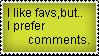 I prefer comments.. by Svenskwolf
