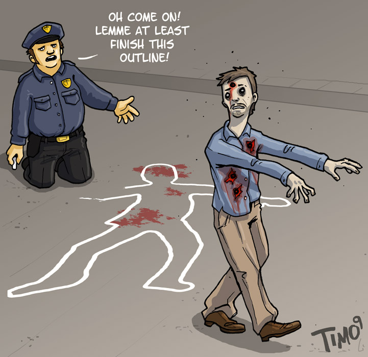 Zombie Outline
