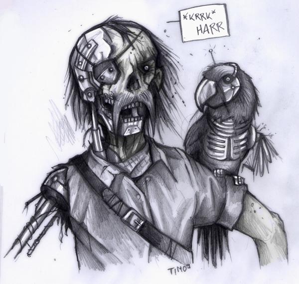 Random Cyborg_Zombie_Pirate_by_TmoeGee