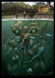 Piranha Mermaids by TmoeGee