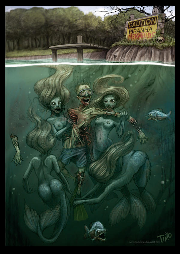 Piranha Mermaids by TmoeGee