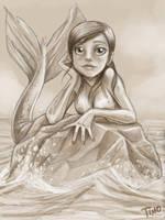 Mermaid sketch by TmoeGee