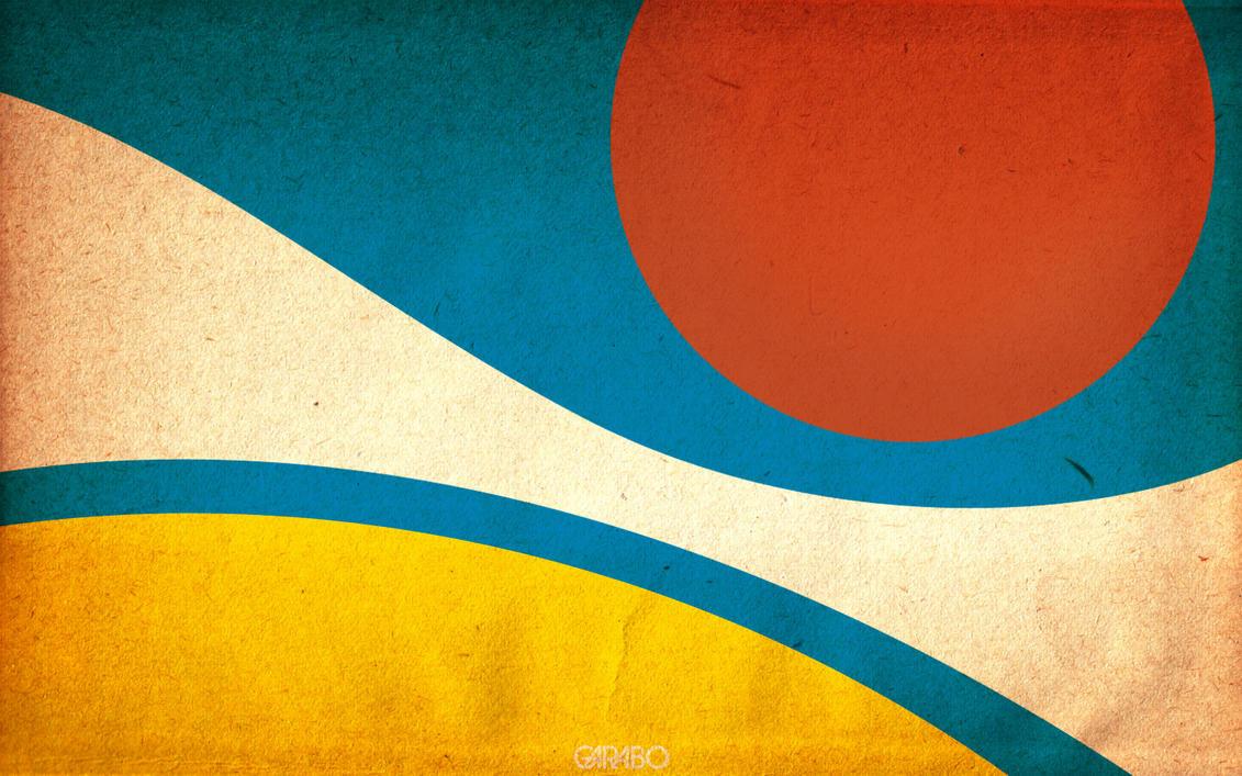 Wavin' Sun Wallpaper by GabO-GarabO