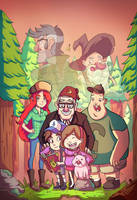 Gravity Falls - Fanart by Steampandastudio