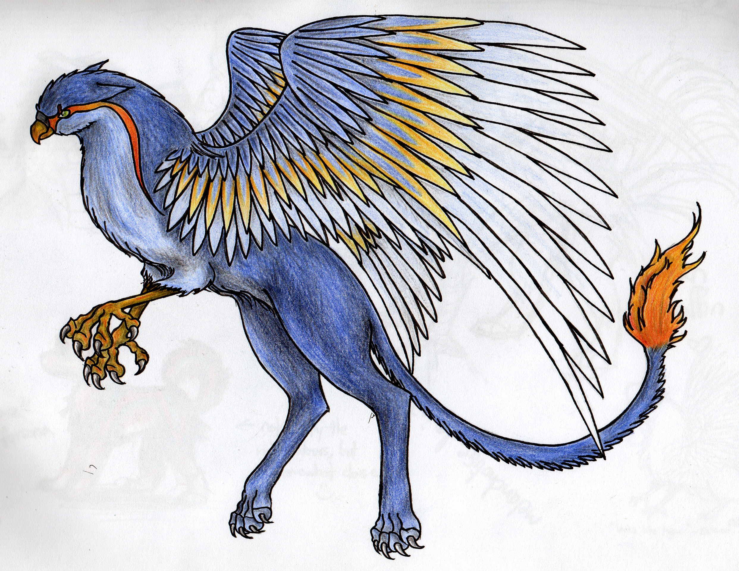 Blue griffin by creature love on deviantart - A picture of a griffin the creature ...