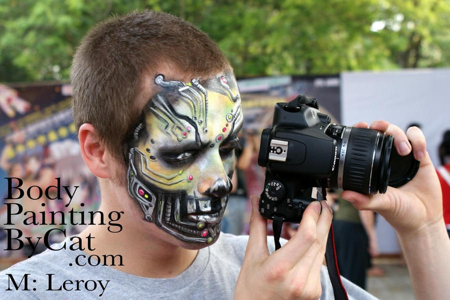 Cyborg Face Makeup Leroid Cyborg Face Paint by