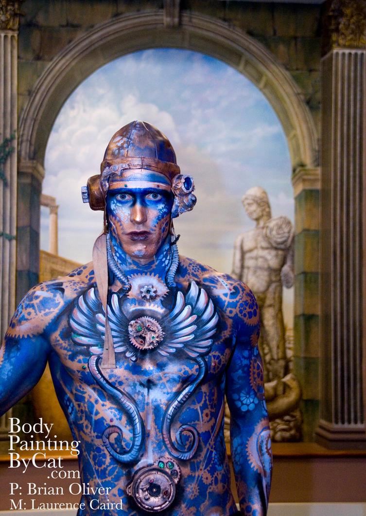 IMATS Mural steampunk body by Bodypaintingbycatdot