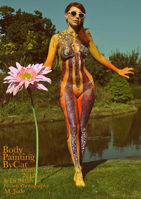 Hey Jude Psychadelia 60s Body Paint Biba Retro By Bodypaintingbycat On Deviantart