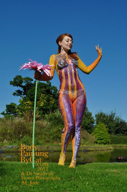Hey Jude Psychadelia 60s Body Paint Happy Pose By Bodypaintingbycat On Deviantart