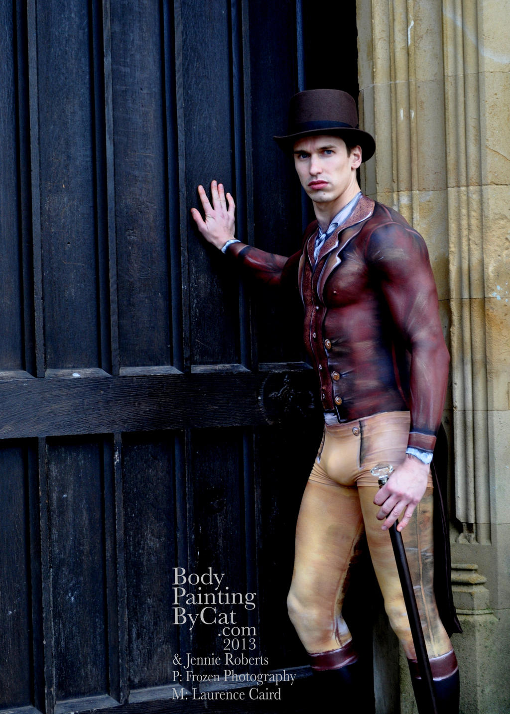 Mr Darcy bodypaint clothes promo Paintopia Vintage by Bodypaintingbycatdot