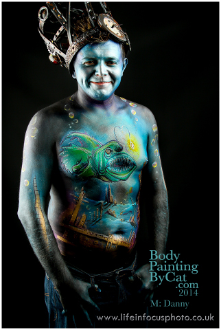 UKFBCon Danny deep sea angfish atlantis body paint by Bodypaintingbycatdot