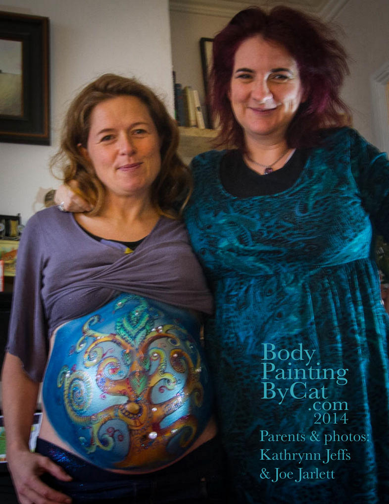 Tree of Life Bump Body paint prenatal art n me by Bodypaintingbycatdot