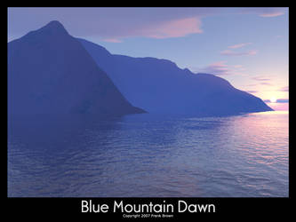 Blue Mountain Dawn For Jane by loneantarcticwolf