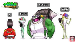 Frogwheels Characters by zeoarts