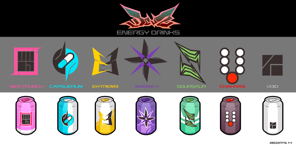 Energy Drinks by zeoarts