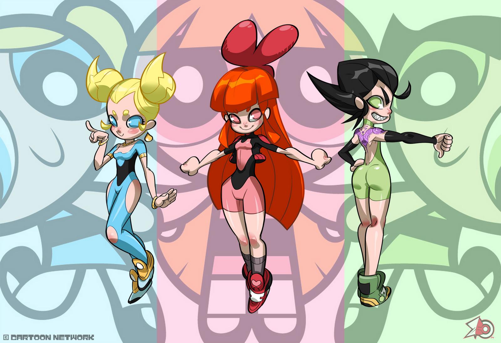 The Powerpuff Girls by zeoarts