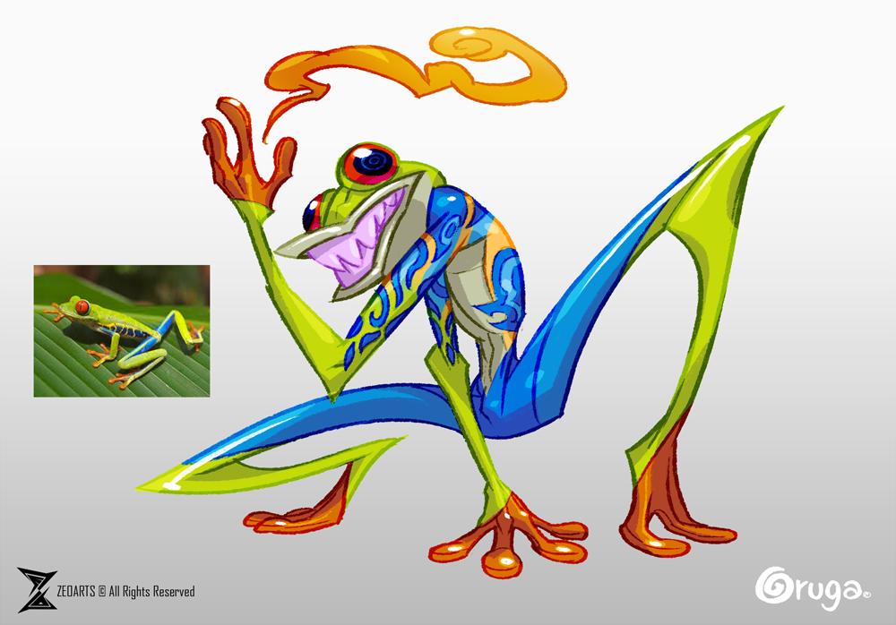 Navaja the frog by zeoarts