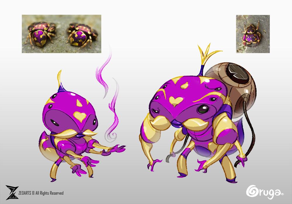 Golden Spiders bros by zeoarts
