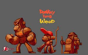 DonkeyKong Wood by zeoarts