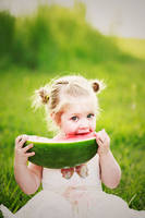 Macy and the watermelon