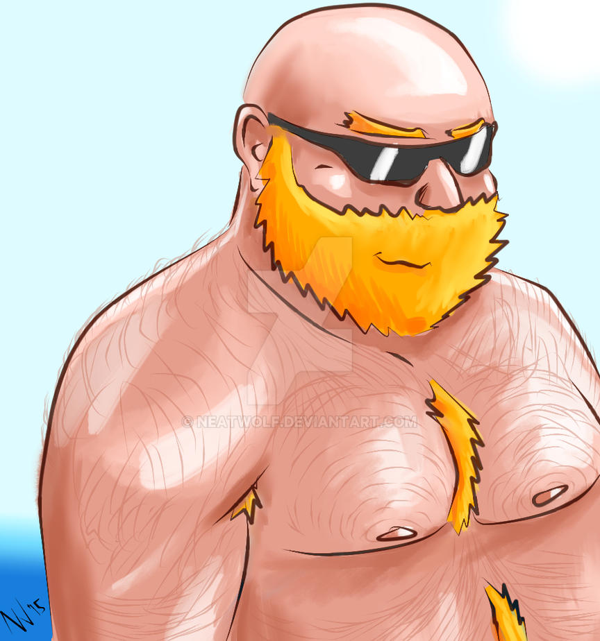 Cartoonish Bulky Ginger Bear by NeatWolf