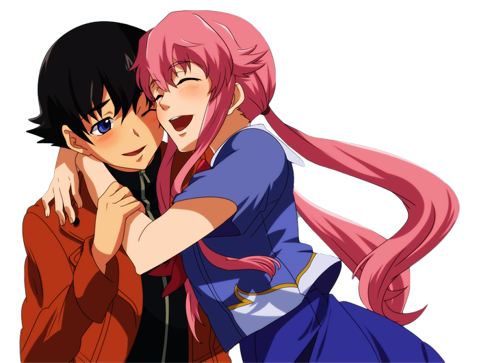 Yukiteru Amano and Yuno Gasai PNG by AnimePNG on DeviantArt