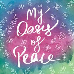 Spiritual Yoga Meditation Peace Typography Art