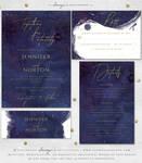 Purple Galaxy Wedding Invitation Set by Soumya SM