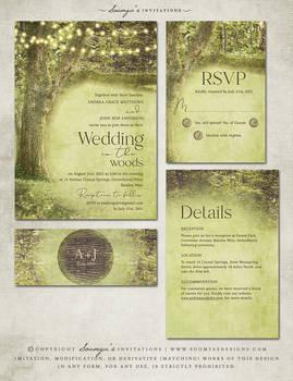 Forest Wedding Invitation Set by Soumya SM