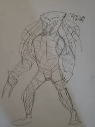 I drew a Predator in the Sonic artstyle as a joke
