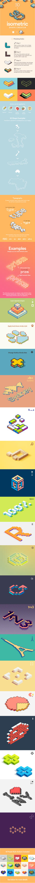Isometric Shape Creator Preview Image by Pickoora