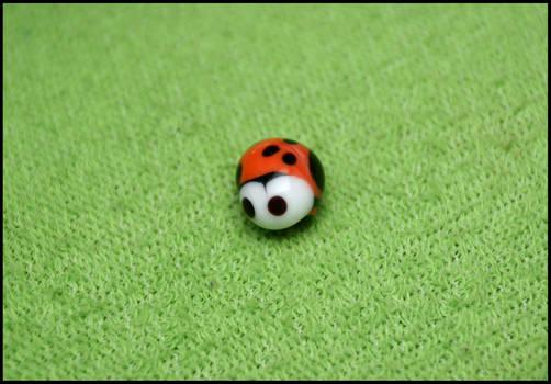 glass bead : ladybug