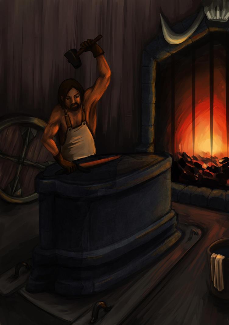 Haedrig Eamon the Blacksmith by AnirBrokenear