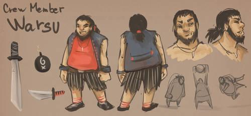 Character sheet : Crew member Warsu by AnirBrokenear