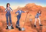 Chain Gang Girls Digging
