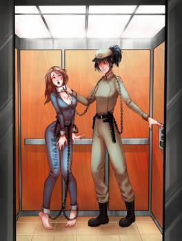 Inmate Harper Elevator Ride