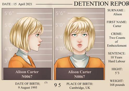 Alison Mugshot
