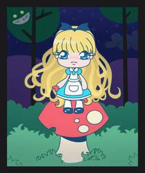 Kawaii Alice in Wonderland by DCRmx